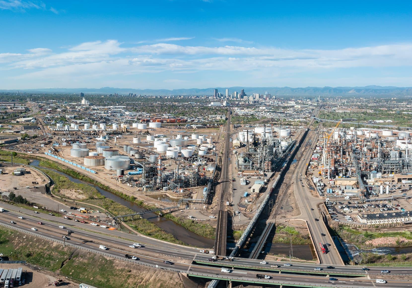 Panoramic view of Denver, Colorado.