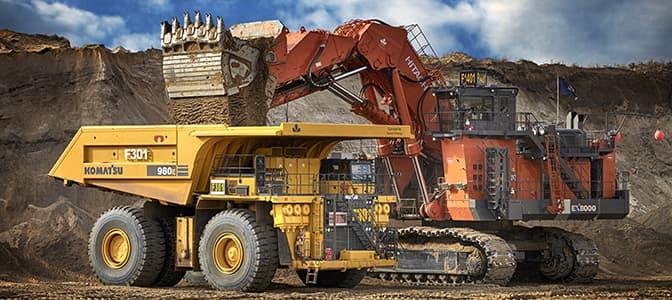 A shovel truck seen at Suncor's Fort Hills mining location.