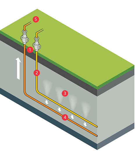 Illustration of the SAGD process