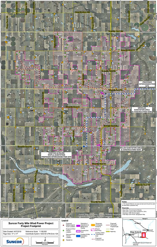 2019 Forty Mile Project footprint map
