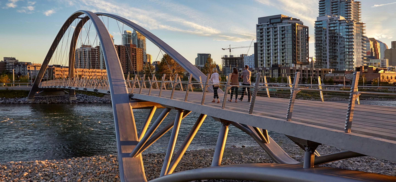 Pont entre l'île St. Patrick et Calgary
