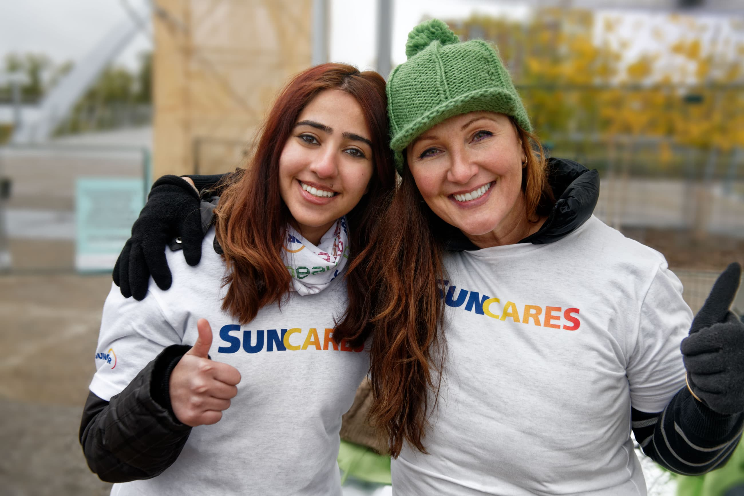 SunCares volunteers in the community