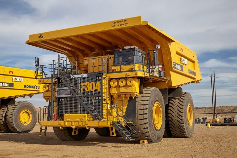 Camion de transport à Fort Hills