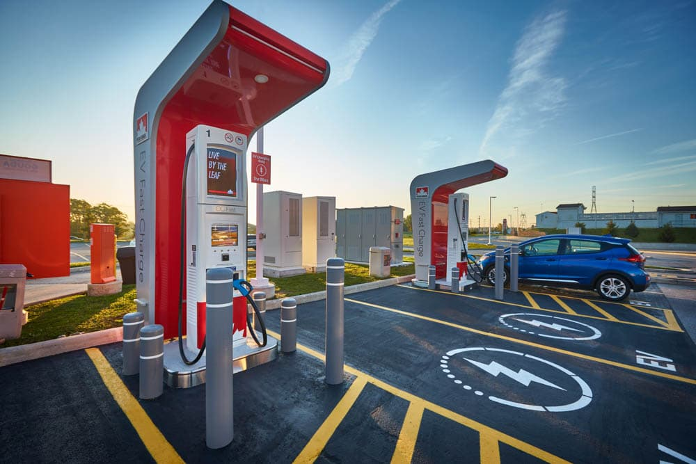 Borne de recharge pour véhicule électrique de Petro-Canada à Dorchester en Ontario