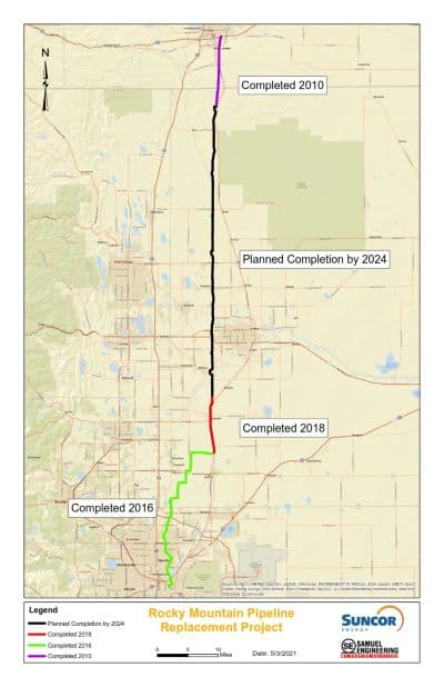 Rocky Mountain Pipeline Replacement Project – Construction status