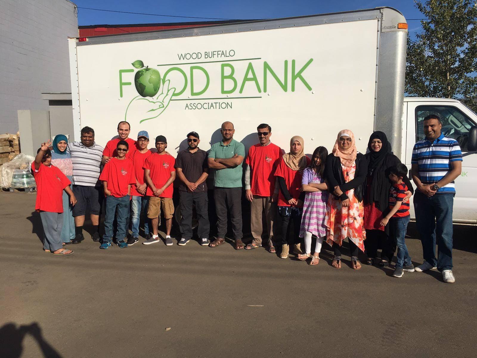 foodbank drive volunteers