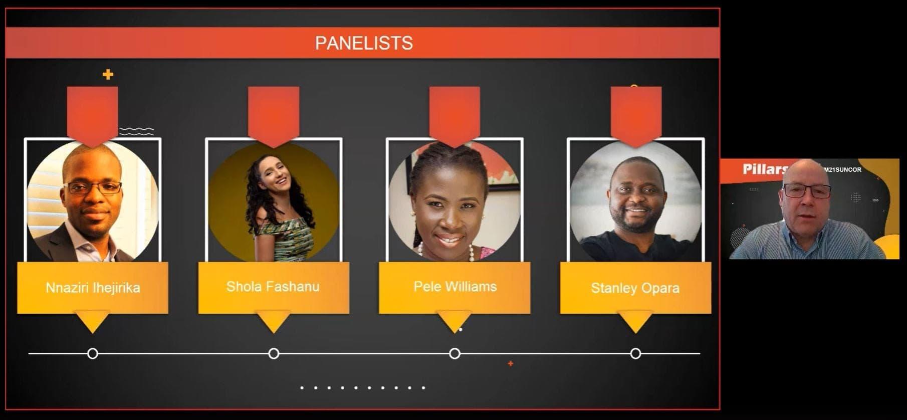 Discussion en groupe sur le Mois de l'histoire des Noirs de Suncor