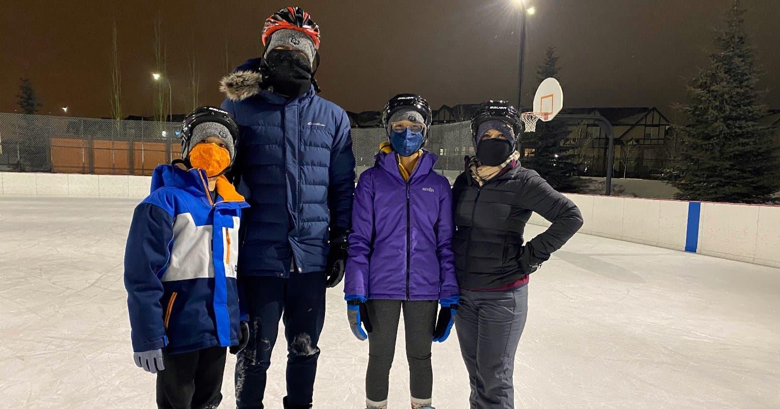Le patin est l'une des activités que Nora Paris et sa famille ont adoptées pendant la pandémie.