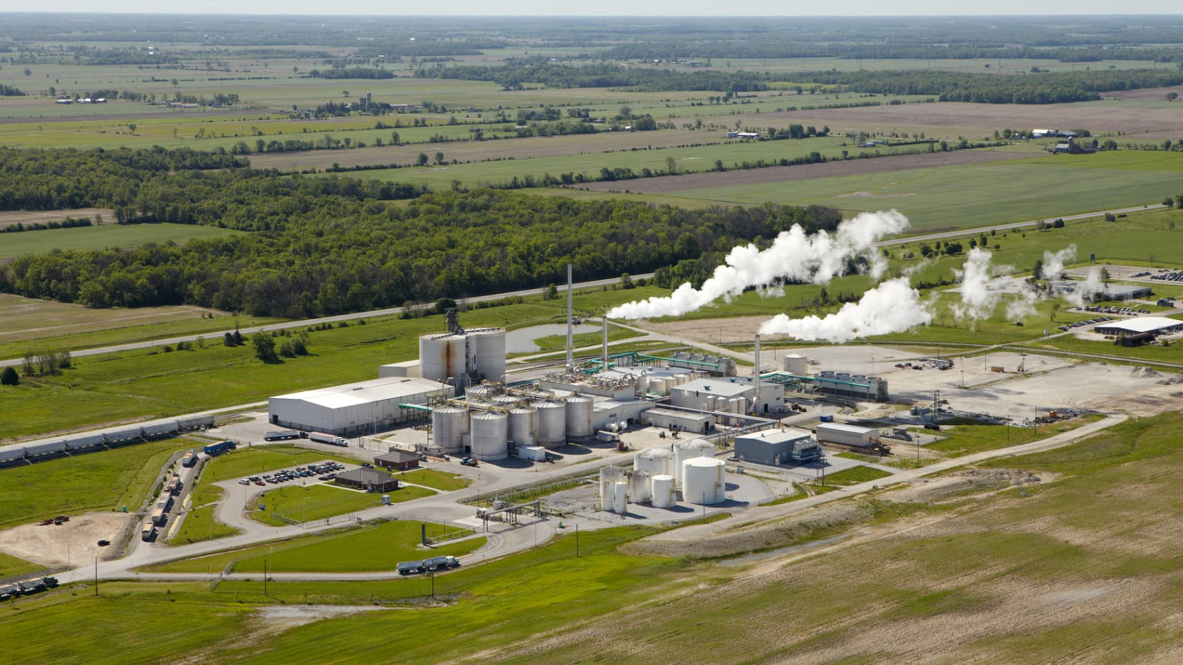 A bird's eye view of the St. Clair Ethanol Plant