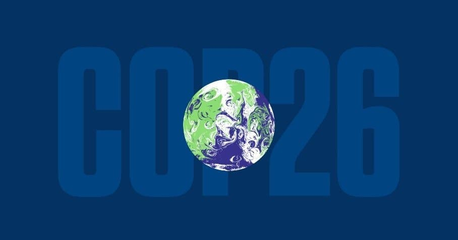 cop 26 image with image of earth on the outside