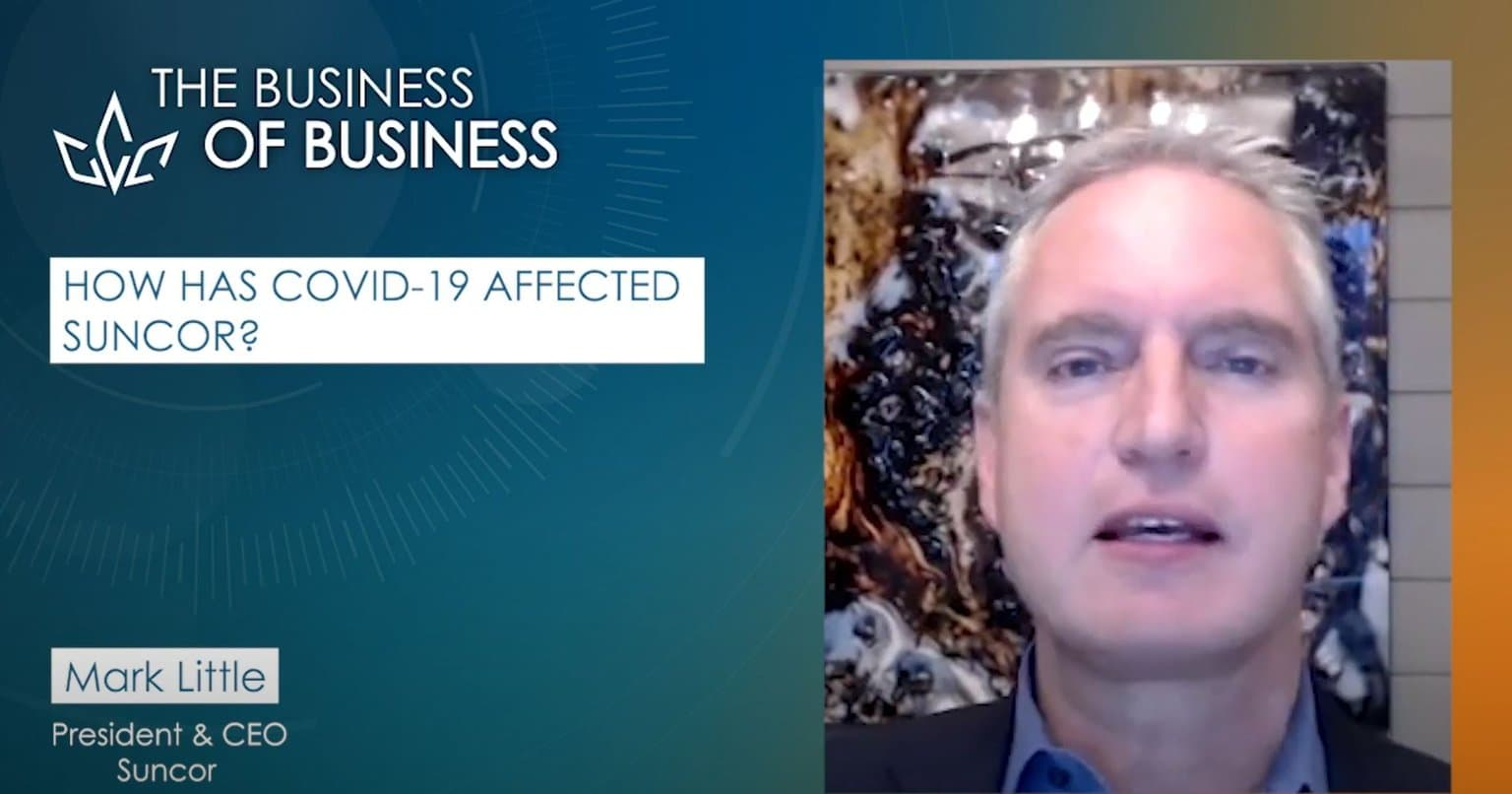 Mark Little, chef de la direction de Suncor en entrevue virtuelle avec Perrin Beatty, chef de la direction de la Chambre de commerce du Canada.