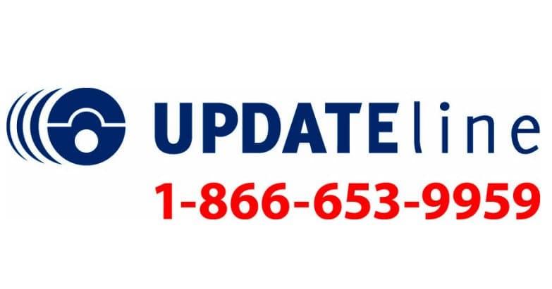 updateline phone number 1-866-653-9959